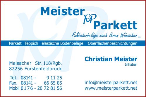 Visitenkarte - Meister-parkett